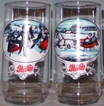Pepsi Glass Christmas Scenes - $5.00