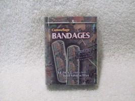 NEW GREEN CAMOUFLAGE BANDAGES BANDAIDS TIN BOX ... - $6.99