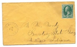c1870 South Whitley, IN Vintage Post Office Postal Cover - $8.99