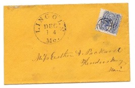 c1870 Lincoln, ME Vintage Post Office Postal Cover - $8.99
