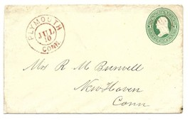 c1882 Plymouth, CT Vintage Post Office Postal Cover - $8.99