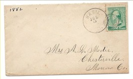 1882 Basil, OH Discontinued/Defunct Post Office (DPO) Postal Cover - $8.99