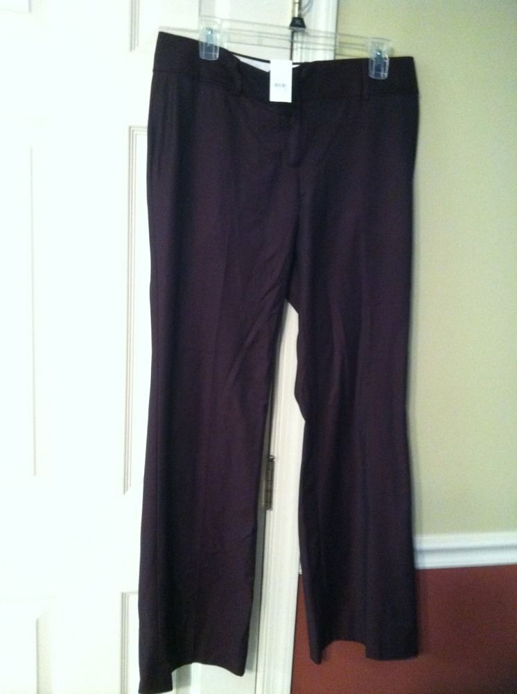 ANN TAYLOR LOFT MARISSA FIT WINE/BURGUNDY DRESS PANTS WOMENS SIZE 8