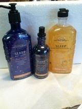 Bath & Body Works (3)  Aromatherapy WARM MILK & HONEY Lotion Dream Bath ... - $45.99