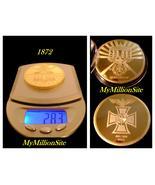 1872 Deutschemark 1oz .999% 24K 100 mill Gold Clad Coin Bullion pre WW1 ... - $9.97