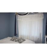 White Crackle Window Curtain 3 Piece Set - 1 Window Treatment - $10.99