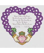 Claddagh Weddding cross stitch chart Artist's Alley  - $10.80