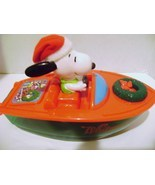 Snoopy Whitman Christmas Boat - $8.00