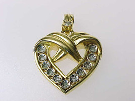 HEART PENDANT with Diamonds - Vintage - $60.00