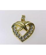 HEART PENDANT with Diamonds - Vintage - $60.00