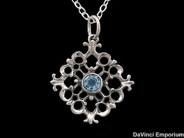 14k White Gold Baroque Pendant Necklace With 5 ... - $427.00