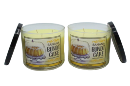 Bath & Body Works Banana Bundt Cake 3-Wick Glass Jar Candle 14.5 oz (Set of 2) - $49.89