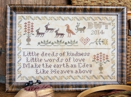 Deeds of Kindness cross stitch chart Heartstring Samplery - $9.00