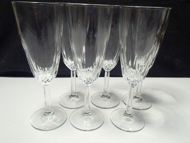 Primary image for 6 CRISTAL d'ARQUES DIAMANT FLUTES