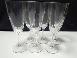 6 CRISTAL d'ARQUES DIAMANT FLUTES - $14.99