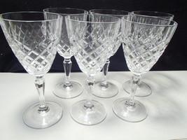 6 CRISTAL d'ARQUES DAUPHINE LRG WATER GOBLETS~~super nice set - $34.99