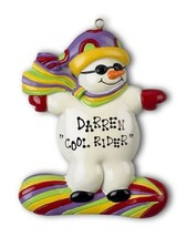 SNOWBOARD SNOW BOARD BEAR ORNAMENT CHRISTMAS GIFT PERSONALIZE FREE PRESE... - $9.89