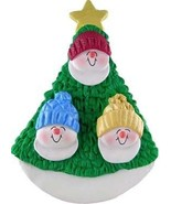 SNOWMAN FAMILY OF THREE IN TREE CHRISTMAS ORNAMENT GIFT PRESENT PERSONAL... - $12.38