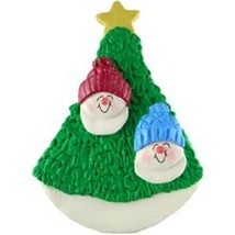 Snowman Couple 2 Kids  In Tree Christmas Ornament Gift Present Personalize Free - $12.38