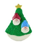 SNOWMAN COUPLE 2 KIDS  IN TREE CHRISTMAS ORNAMENT GIFT PRESENT PERSONALI... - $12.38