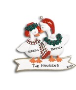 GEESE COUPLE FAMILY OF TWO CHRISTMAS ORNAMENT CUTE GIFT PRESENT PERSONAL... - $12.82