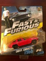 Fast & Furious 8 Die-Cast Car 1966 Chevy Corvette  Hot Wheels Scale 1:55 - $8.90