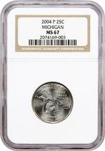 2004-P Michigan 25c NGC MS67 - Statehood Quarter - $24.25