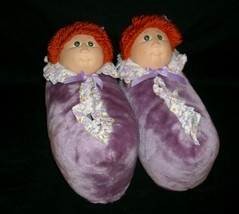 Vintage 1984 Original Cabbage Patch Kids Purple Doll Slippers Stuffed Plush 7 8 - $73.87