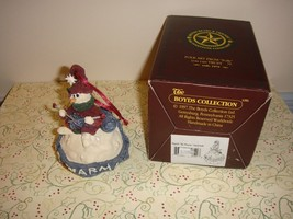 Boyds Bears Folkstone Ingrid Be Warm Snowball Ornament #25651 - $15.49