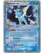 Vaporeon 110/113 EX Holo Rare EX Delta Species Pokemon Card - $321,85 MXN