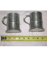 Lot of 2 Rare Vintage Pewter (1/2) Half Pint Tankards With Stamped Excis... - $117.38