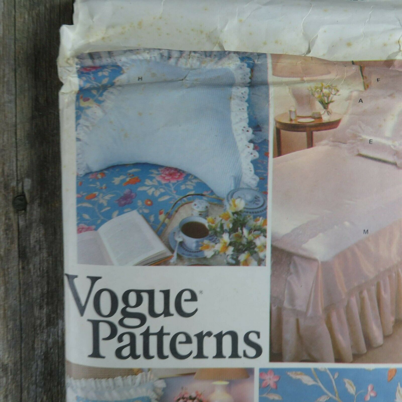 Vintage Vogue Bedspread Linen Sewing Pattern Bedroom Sham Pillow Bed Covers image 4