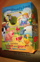Toy Gift Activity Game Set Old MacDonald Farm Board Book Giant Jigsaw Puzzle New