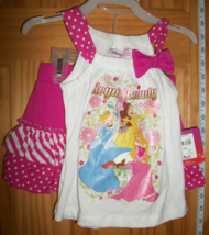 Disney Princess Baby Clothes 24M Infant Skort Set Royal Princesses Pink ... - $14.24