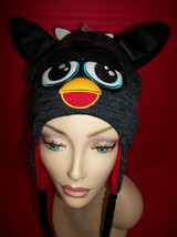 Furby Girl Clothes Furbie Face Winter Hat Black Hasbro Trapper Cap Appar... - $14.24
