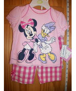 Disney Mickey Baby Clothes 3M-6M Minnie Mouse Short Set Daisy Duck Shirt... - $14.24