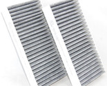 2x HQRP Activated Charcoal Cabin Air Filter for BMW 535i 528i 2008 2009 2010