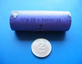 Israel  2 New Sheqel NIS Roll of 25 coins 2008 BU - $18.09