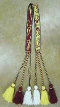 Native American Ceremonial Youth Yarn Belt Tass... - $79.99
