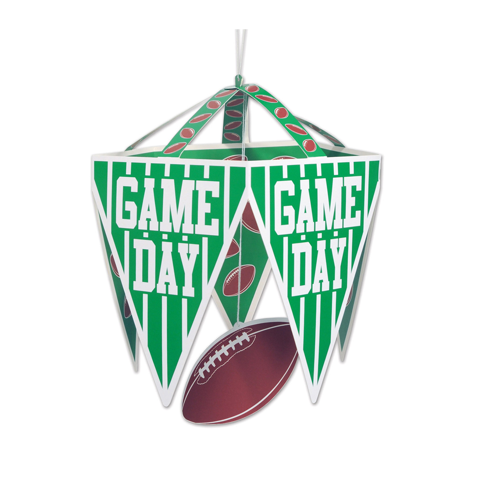 "Beistle Game Day Pennant Chandelier 11 1/2"" x 17 1/2""- Pack of 12"