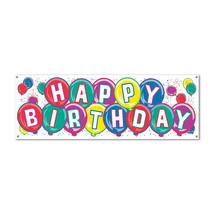 """Beistle Happy Birthday Sign Banner 5' x 21"""" - 50135- Pack of 12 - $55.35"""