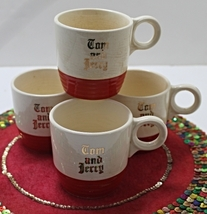 Set Of Four Vintage 1940's Universal Potteries Tom & Jerry Cups - $15.00