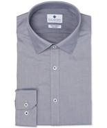 Ryan Seacrest White Blue Dobby Diamond Slim-Fit Non-Iron Stretch Dress S... - $21.95