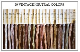 FLOSS STARTER SET 20/set Vintage Neutral Colors cross stitch Classic Colorworks - $45.00
