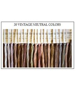 FLOSS STARTER SET 20/set Vintage Neutral Colors... - $43.20