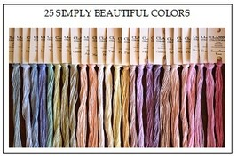 FLOSS STARTER SET 25/set Simply Beautiful Colors cross stitch Classic Colorworks - $56.25