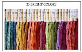 FLOSS STARTER SET 25/set Bright Colors cross stitch Classic Colorworks  - $54.00