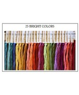 FLOSS STARTER SET 25/set Bright Colors cross st... - $54.00