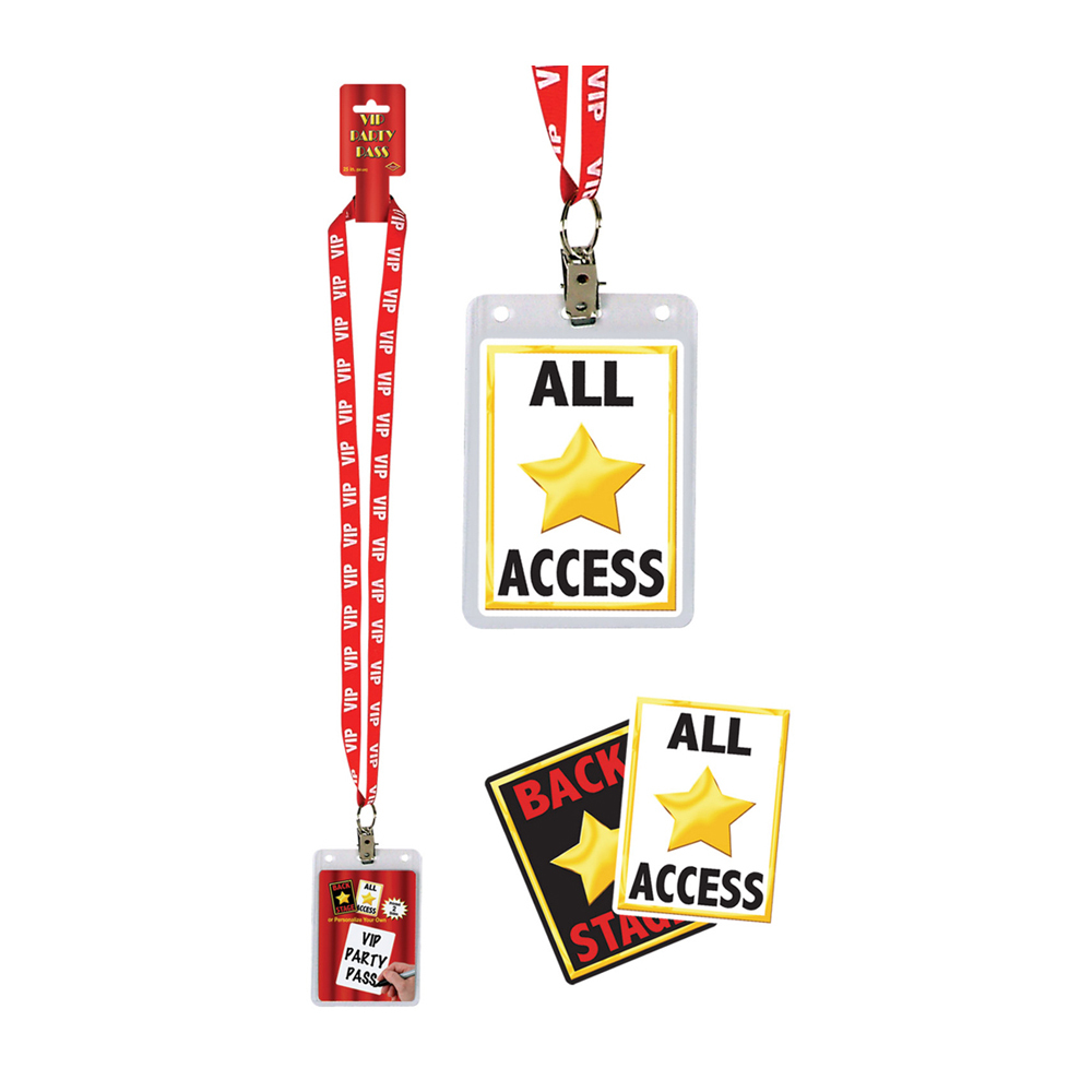 """Beistle VIP Party Pass 25""""- Pack of 12"""
