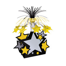 "Beistle Star Centerpiece 15"" - Black, Gold & Silver- Pack of 12 - $48.83"